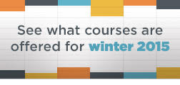 See what courses are offered for winter 2015