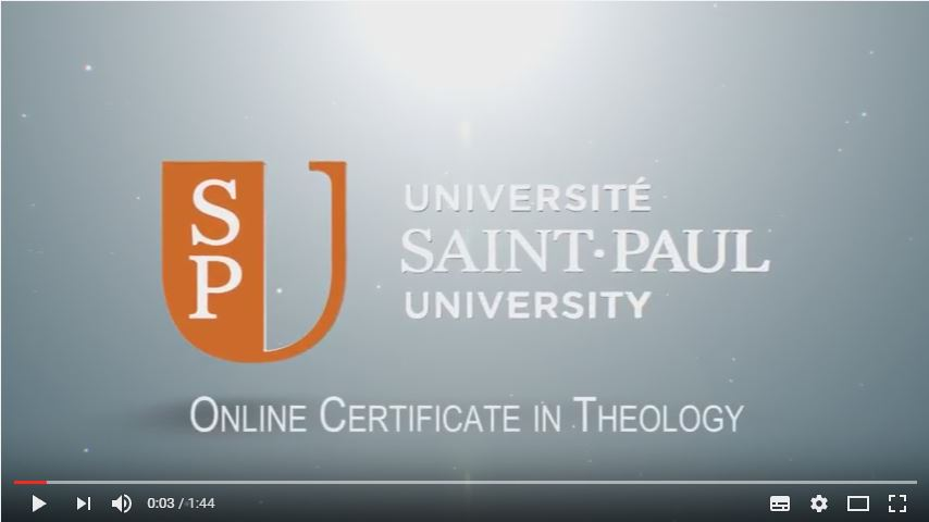 Online Certificate in Theology