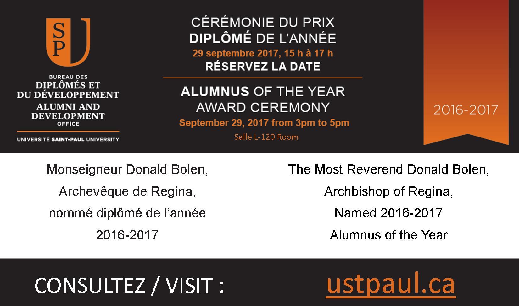 Alumnus of the year