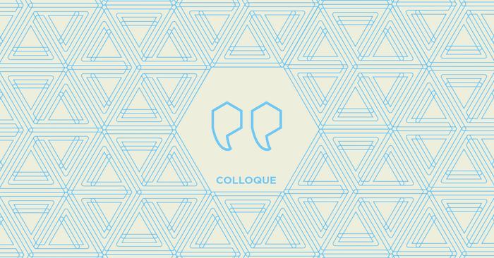 trame du logo du CRITS avec image de guillemets
