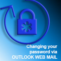 CHANGE PW VIA OUTLOOK