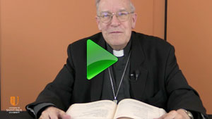 Msgr Roger Ébacher is guest lecturer on  La Parole Expliquée