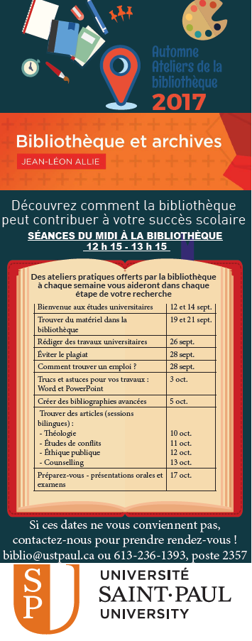 Horaire ateliers