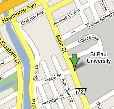 Map of St-Paul University location